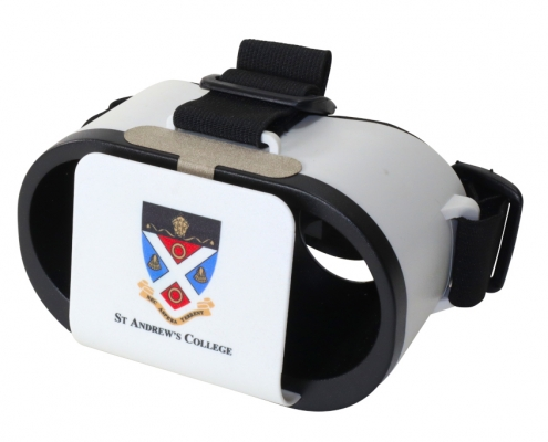 St. Andrews College branded Goggles VR headset