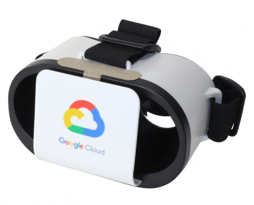 Google Cloud branded Goggles VR headset